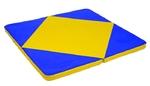 Мат гимнастический складной 1150x1150x80 мм закругленные углы с ромбом